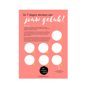 One moment a day | Gratis poster geluk